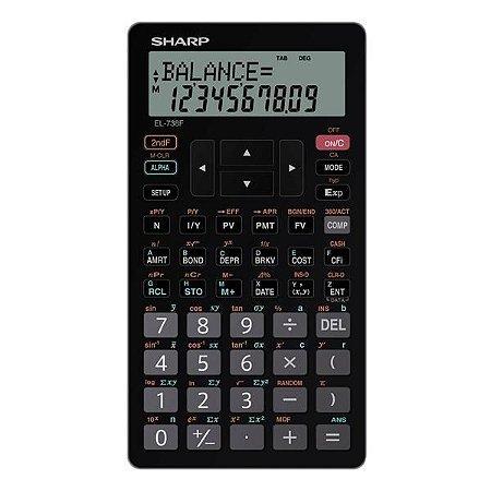 Calculadora Financeira Sharp EL-738FB - Preto