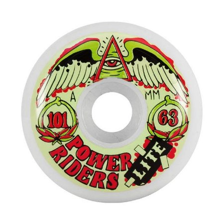 Roda OJ Power Ride Lite 63mm 101A Branca