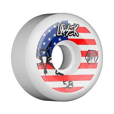 Roda Bones SPF Lasek USA 58mm 84B Branca