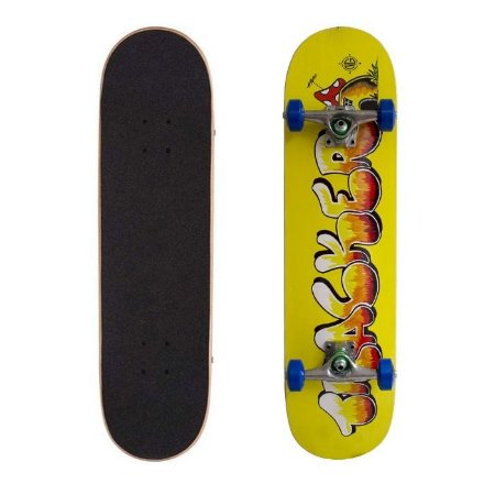 Skate Completo Tracker Semi Pro Mashroom Yellow 8.0