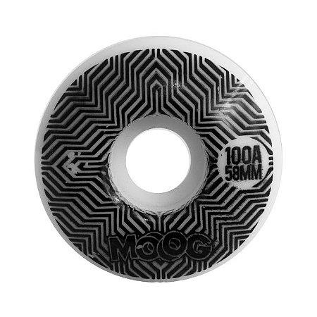 Roda Moog Op Art 58mm 100A Branca
