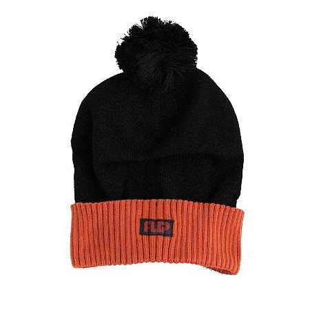 Touca Flip Tube Black Orange