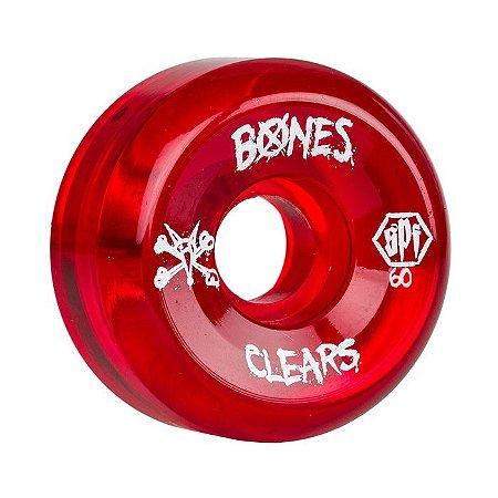 Roda Bones SPF Clear 60mm 84B Vermelha