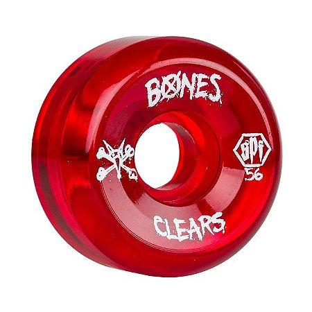 Roda Bones SPF Clear 56mm 84B Vermelha