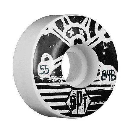 Roda Bones SPF Blackout 55mm 84B Branca