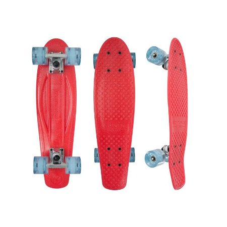 Mini Cruiser Kryptonics Torpedo Red Metal 22.5""