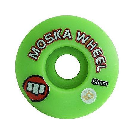 Roda Moska 51mm 100A Verde
