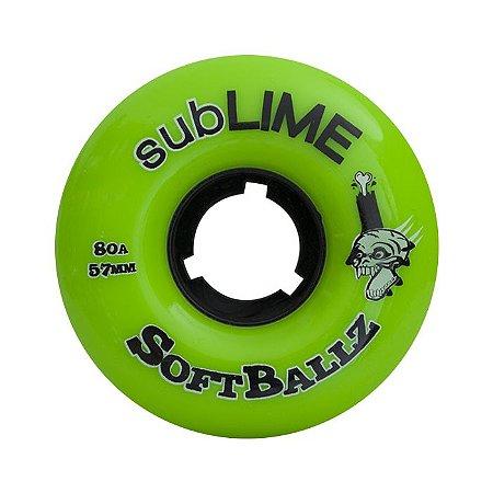Roda Abec 11 Sublime Softballz 57mm 80a