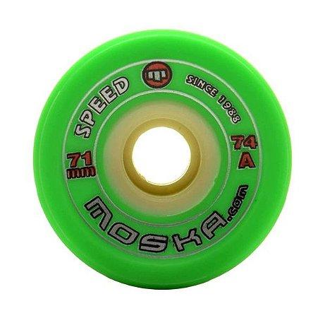Roda Moska Speed 71mm 74A Verde