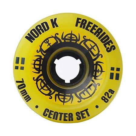 Roda Nordik Freeride Centerset 70mm 82A Amarela