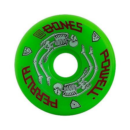 Roda Powell Peralta G-Bones 64mm 97A Verde