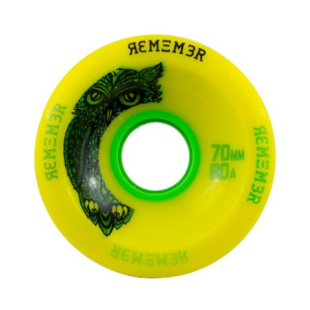 Roda Remember Hoot Slide 70mm 80a Amarela