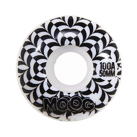Roda Moog Op Art 50mm 100A Branca