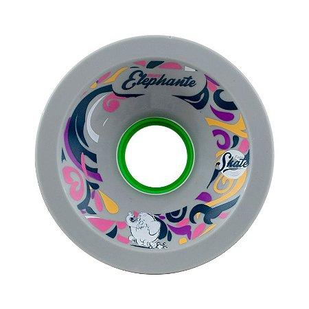 Roda Face Skate Fast Elephante P Core 72mm 81a Cinza