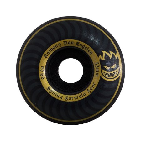Roda Spitfire Formula Four Anthony Dan Engelen Blackout 53mm 99a Preta