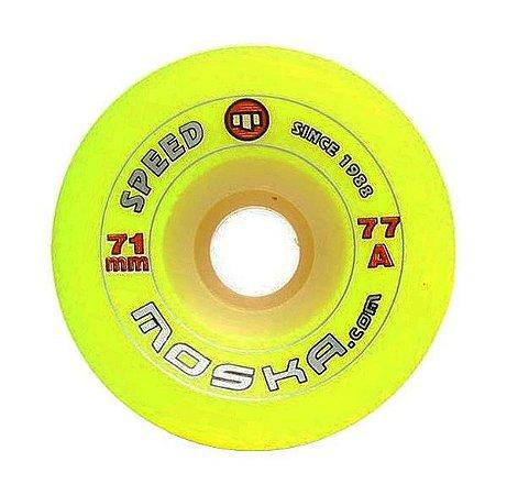 Roda Moska Speed 71mm 77a Amarela