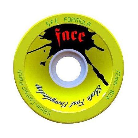 Roda Face Skate SFE Douglas Silva 72mm Amarela