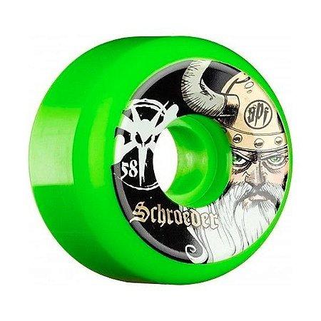 Roda Bones SPF Schroeder Odin 58mm 84B Verde