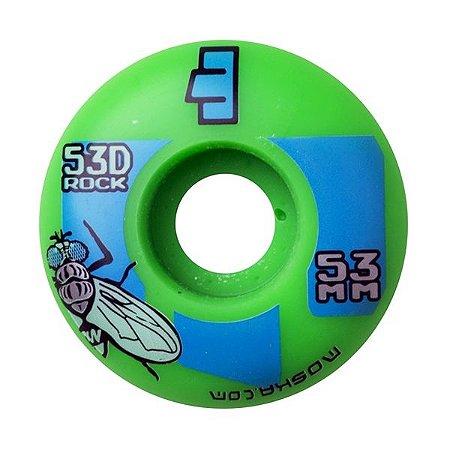Roda Moska 53mm Rock Verde e Azul