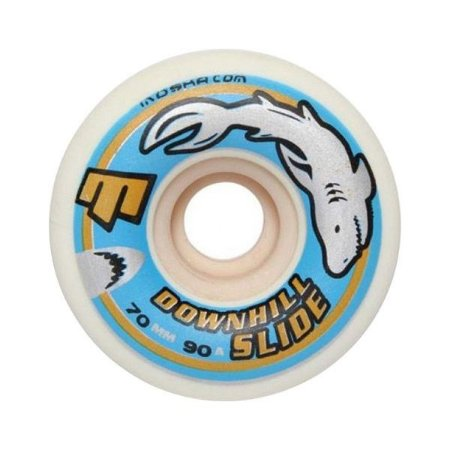Roda Moska Downhill Slide 70mm 90A Branca
