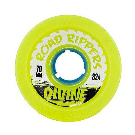 Roda Divine Road Rippers 70mm 82a Verde Limão