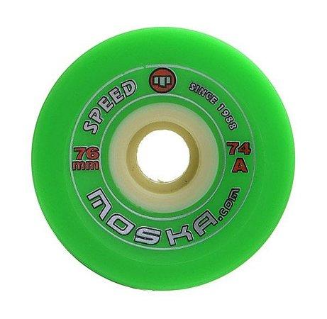 Roda Moska Speed 76mm 74A Verde
