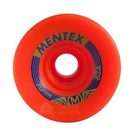 Roda Longboard Mentex 70mm 83A Laranja