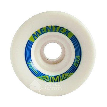 Roda Longboard Mentex 70mm 83A Branca
