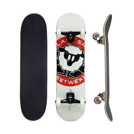 Skate Completo Black Sheep Profissional Logo Branco 8.0