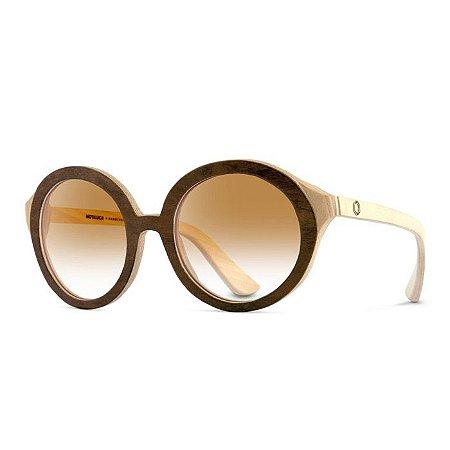 Óculos de Madeira Notiluca Lola Marrom Creme