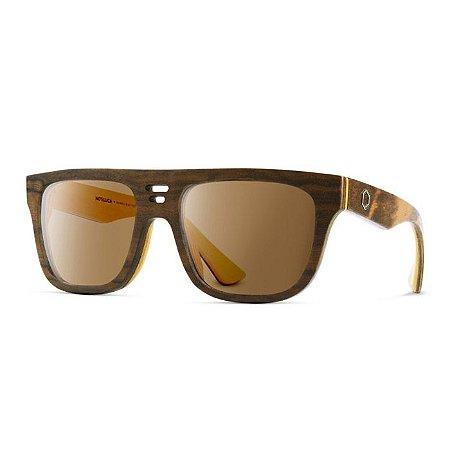 Óculos de Madeira Notiluca Cazu Marrom / Amarelo