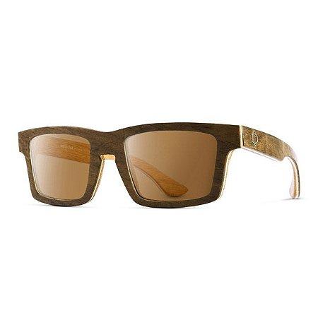 Óculos de Madeira Notiluca Leme Marrom / Bege
