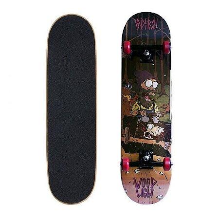 Skate Completo Wood Light Ladeira 7.8