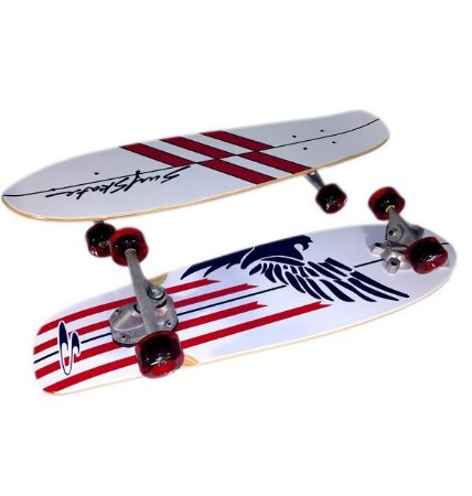 Simulador Surf Skate Revolution Bowl Red White & Blue