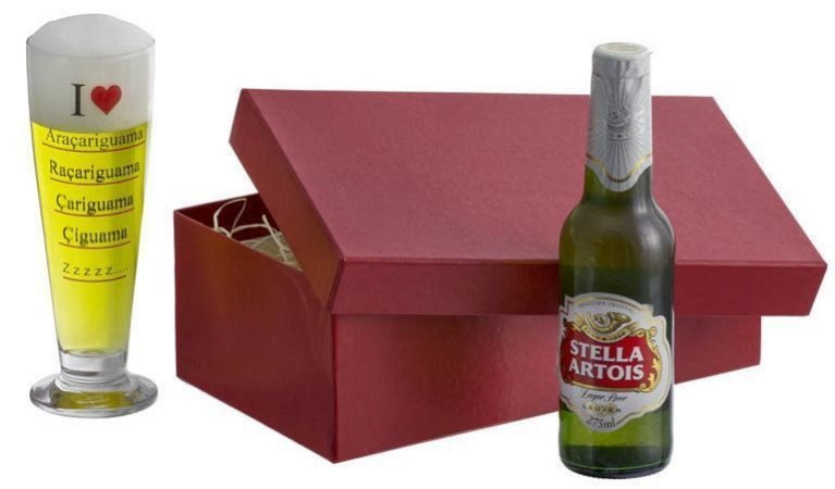 Kit cerveja Copo Tulipa Cerveja - I love Araçariguama