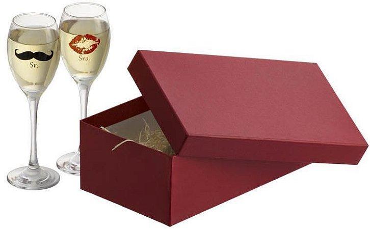 Kit espumante 2 taças Celebra - Sr e Sra.