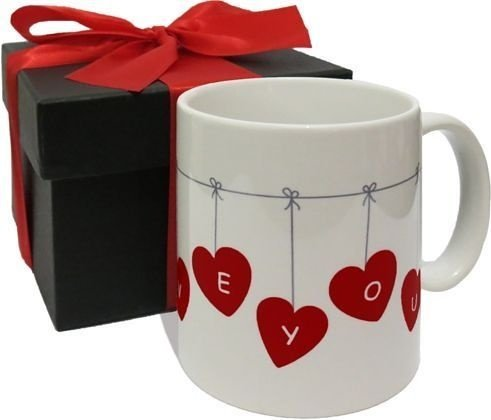 Caneca de porcelana Namorados - I love you