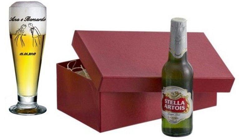 Kit cerveja -  Copo e Cerveja  - PERSONALIZADO