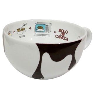 Caneca de porcelana para bolo-microondas