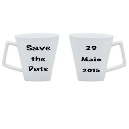 Caneca de porcelana Save the Date