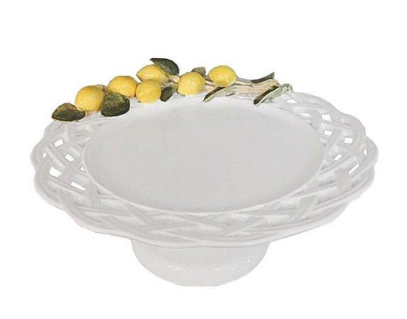 Sousplat de trança com aplicação de limão e base
