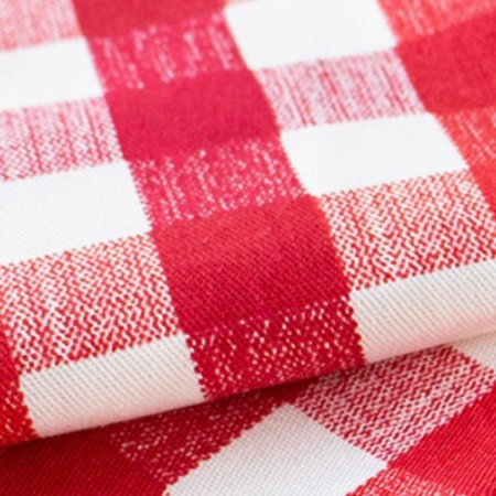 Toalha de mesa xadrez vermelha 2,5 x 1,5 m