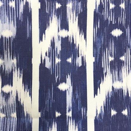 Toalha de mesa estampa ikat azul 3,4 x 2m
