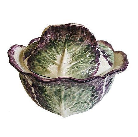 Bowl com tampa alface roxa