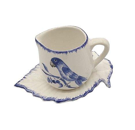 Cremeira P branca com desenho de passarinho azul