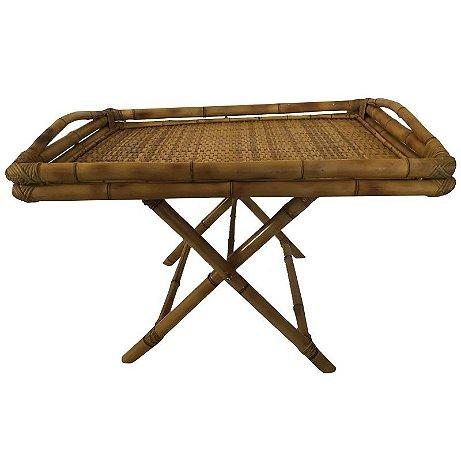 Mesa de Bamboo Baixa Dobrável