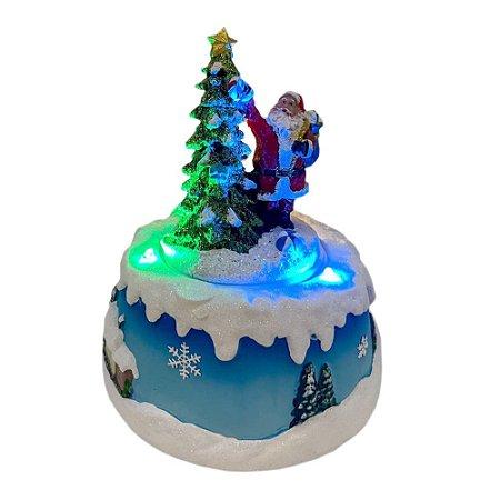 Brinquedo de natal papai noel giratório Ref: AC 904