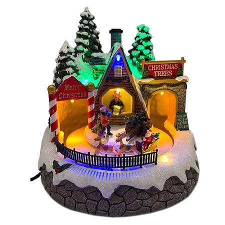 Brinquedo de natal barraca árvores com trenó Ref: AC 852