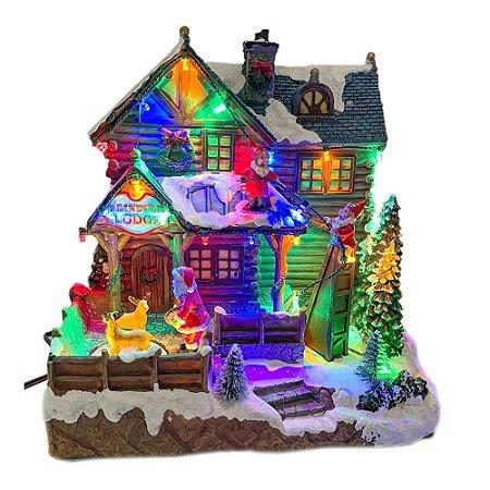 Brinquedo de natal choupana de renas Ref: AC 863