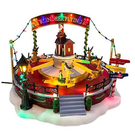 Brinquedo de natal carrossel de renas Ref: AC 869